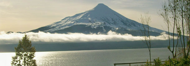 Chilean snow topped volcanoe